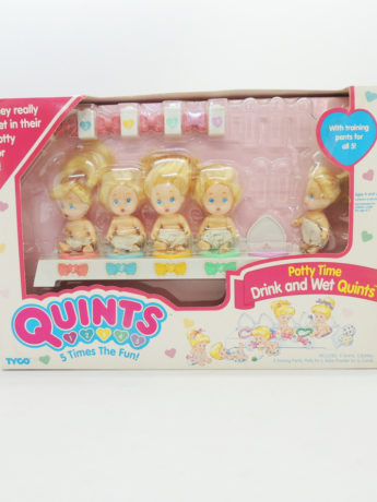 Quints 5 Times The Fun Potty Time Drink And Wet Quints Tyco Antiguo Retro Vintage Colección