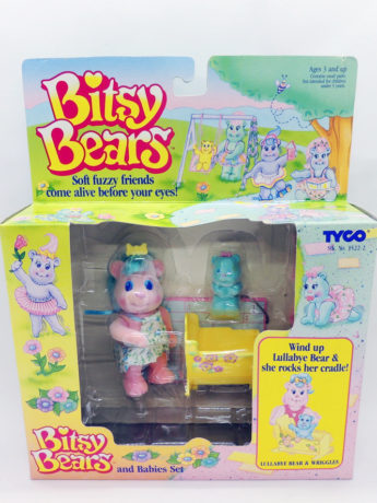 Bitsy Bears And Babies Set Lullabye Bear & Wriggles Tyco Retro Antiguo Vintage Colección